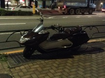 Typical motorbike in Japan, just to carry stuffs