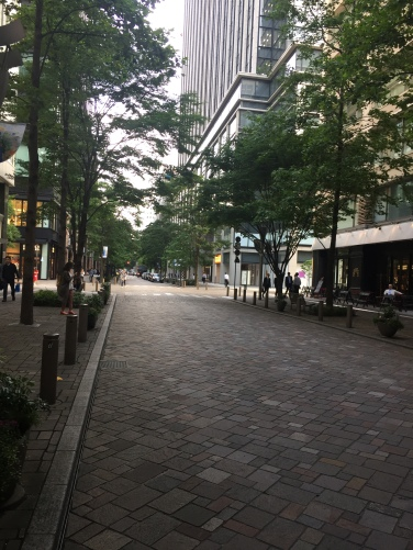 Green walking street